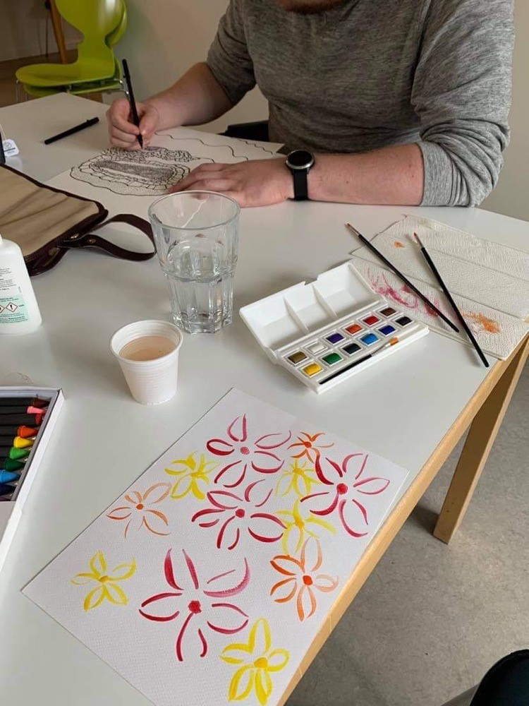 Håb i psykiatrien male kreativgruppe OPUS Frederiksberg