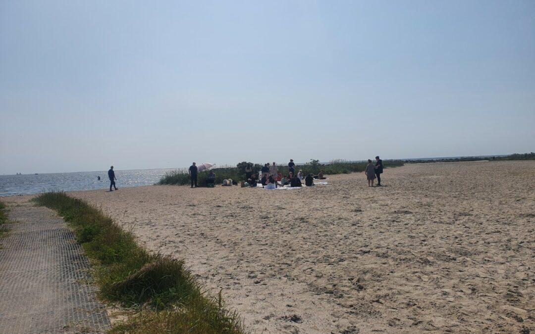 Strandtur i skønt vejr